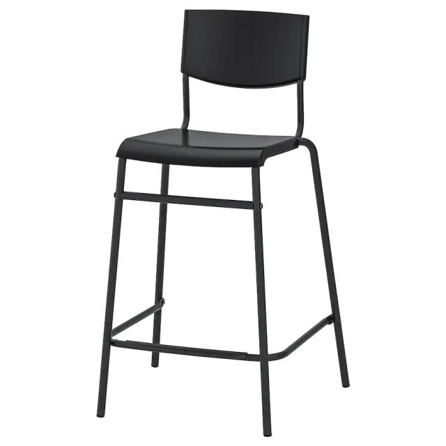 Where to rent BAR STOOL, BLACK BACKED in Ft. Worth Texas