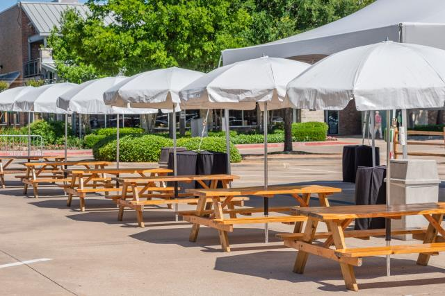Where to rent PICNIC TABLE W  UMBRELLA in Ft. Worth Texas
