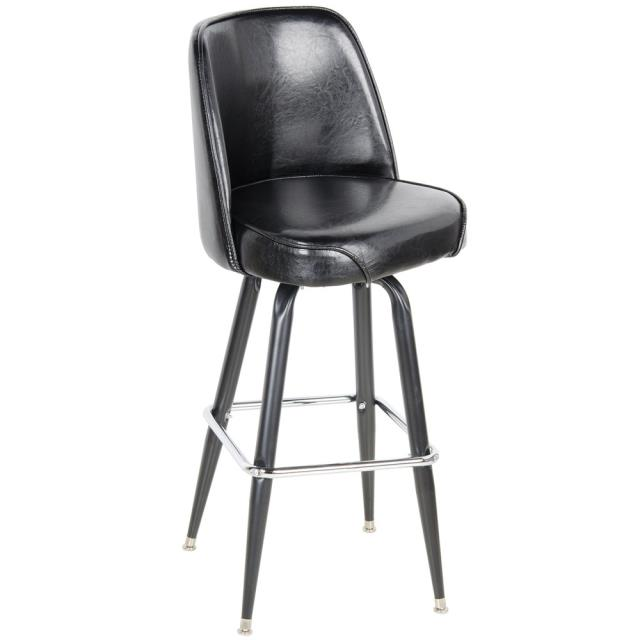 Where to rent BAR STOOL, LEATHER WITH BACK in Ft. Worth Texas
