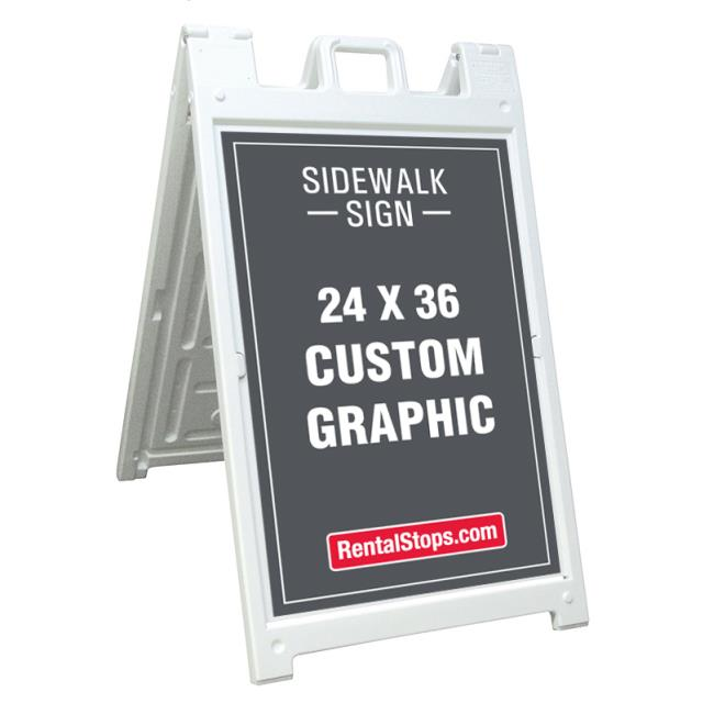 Where to rent SIDEWALK SIGN 24 x 36 in Ft. Worth Texas